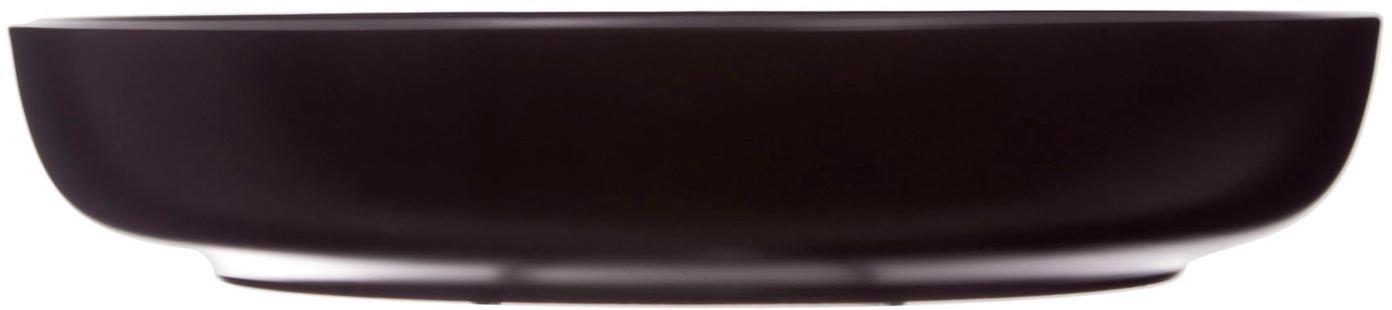 Soepborden Okinawa, 6 stuks, Keramiek, Mat zwart, Ø 22 x H 4 cm