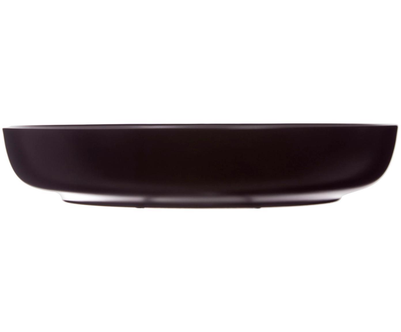 Piatto fondo Okinawa 6 pz, Ceramica, Nero opaco, Ø 22 x Alt. 4 cm