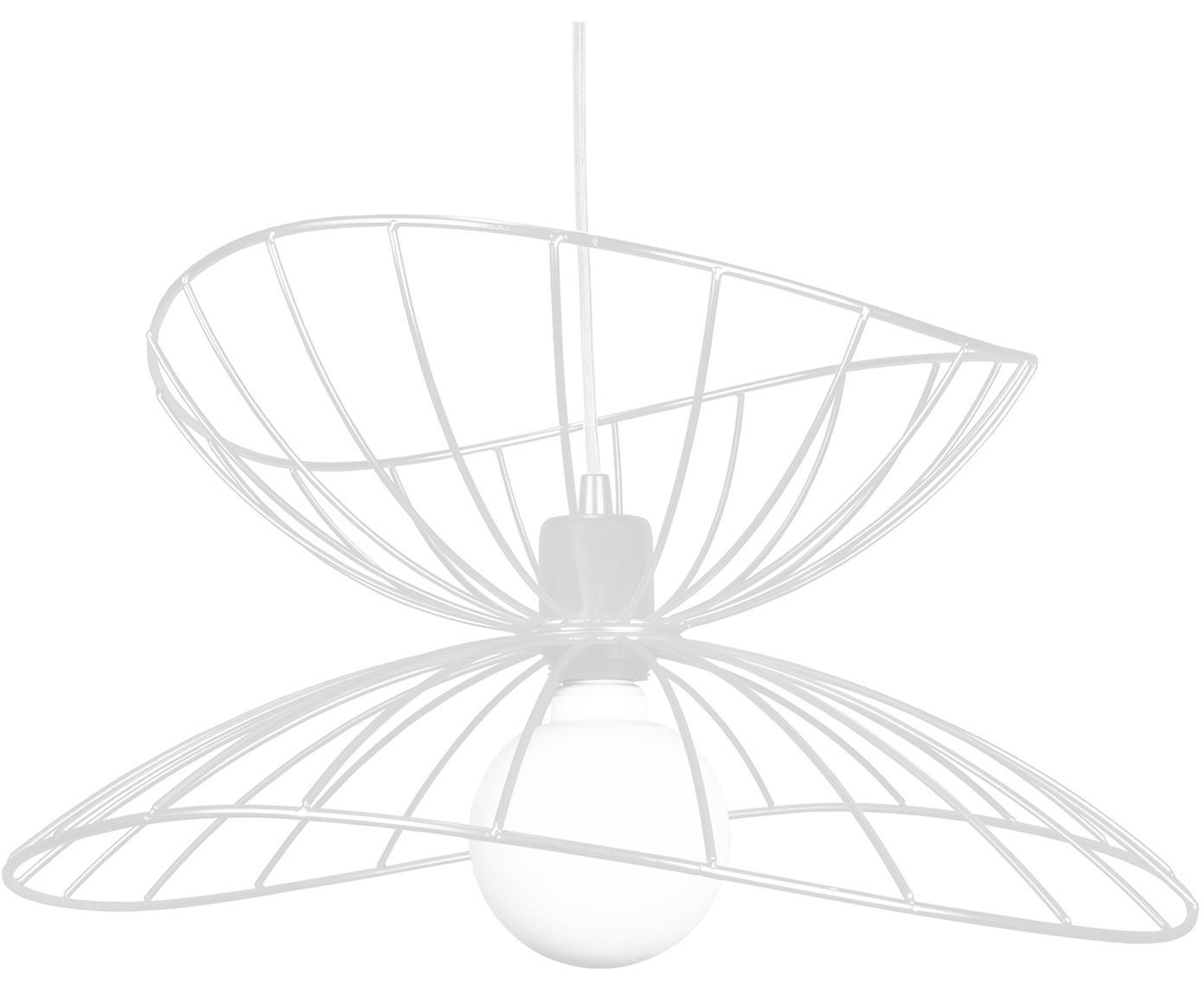 Design Pendelleuchte Ray, Metall, beschichtet, Weiß, Ø 45 x H 25 cm