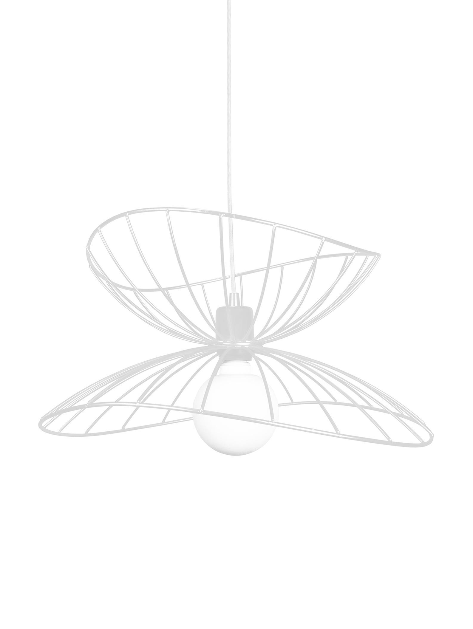 Hanglamp Ray, Gecoat metaal, Wit, Ø 45 x H 25 cm