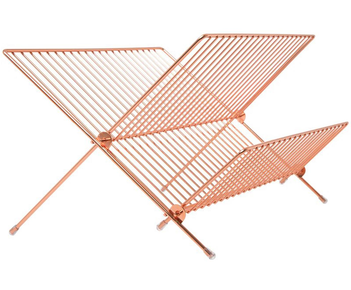 Abtropfgestell Nella, Metall, beschichtet, Roségoldfarben, 39 x 22 cm