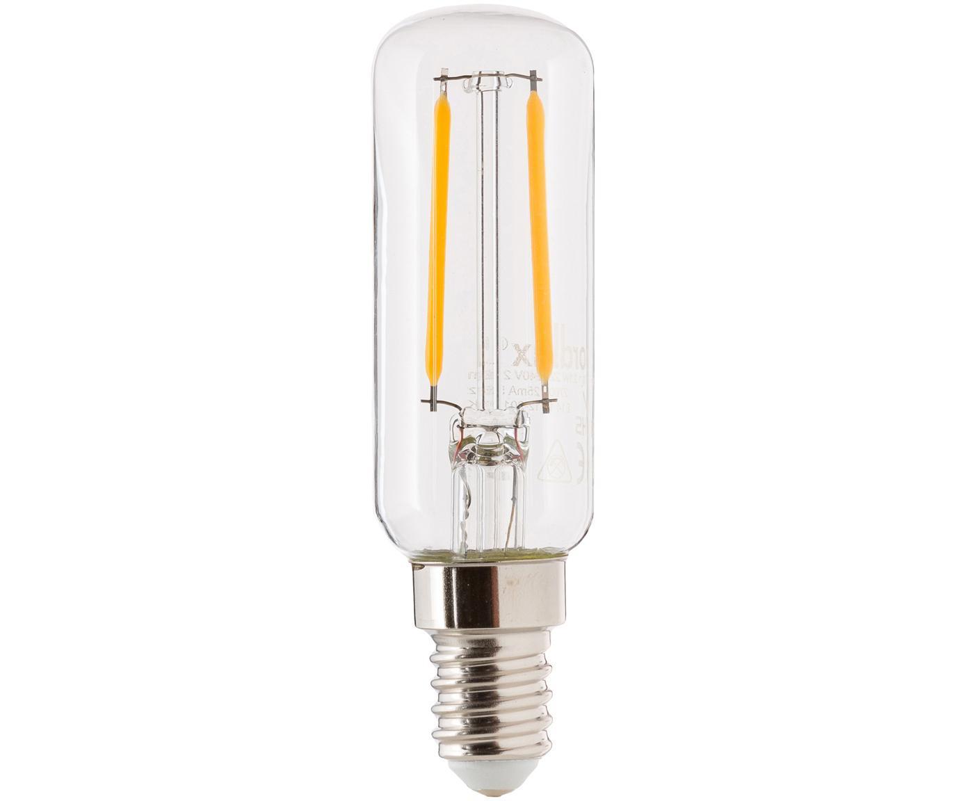 LED lamp Yura (E14 / 2W), Peertje: glas, Fitting: aluminium, Transparant, Ø 3 x H 9 cm