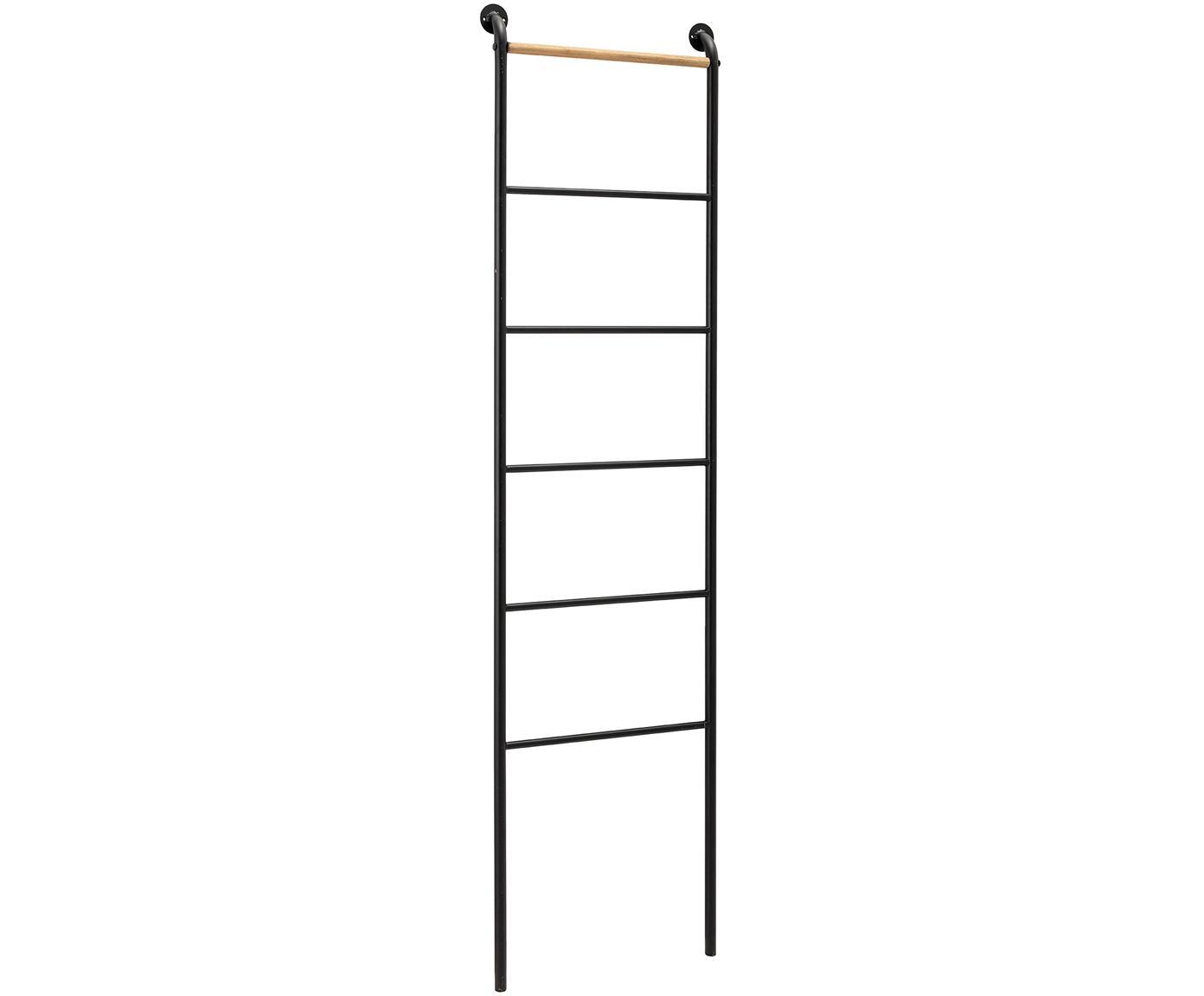 Estantería escalera de metal Towi, Metal, madera de abeto, Negro, An 45 x Al 164 cm