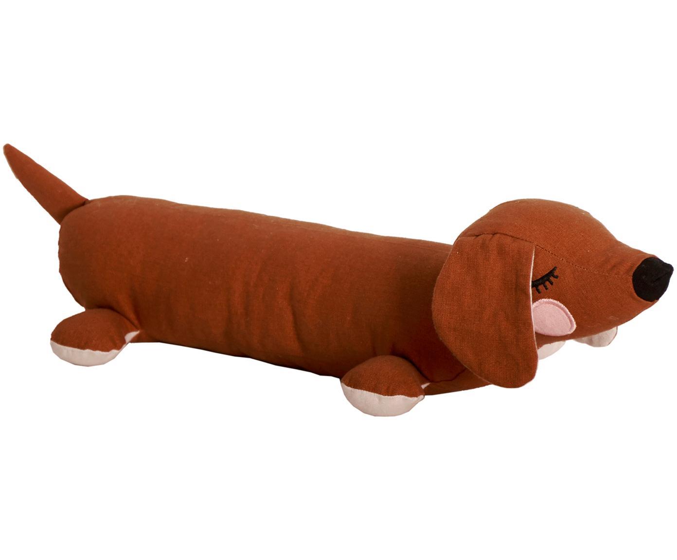 Przytulanka z bawełny organicznej  Lazy Puppy, Brązowy, S 50 x W 10 cm