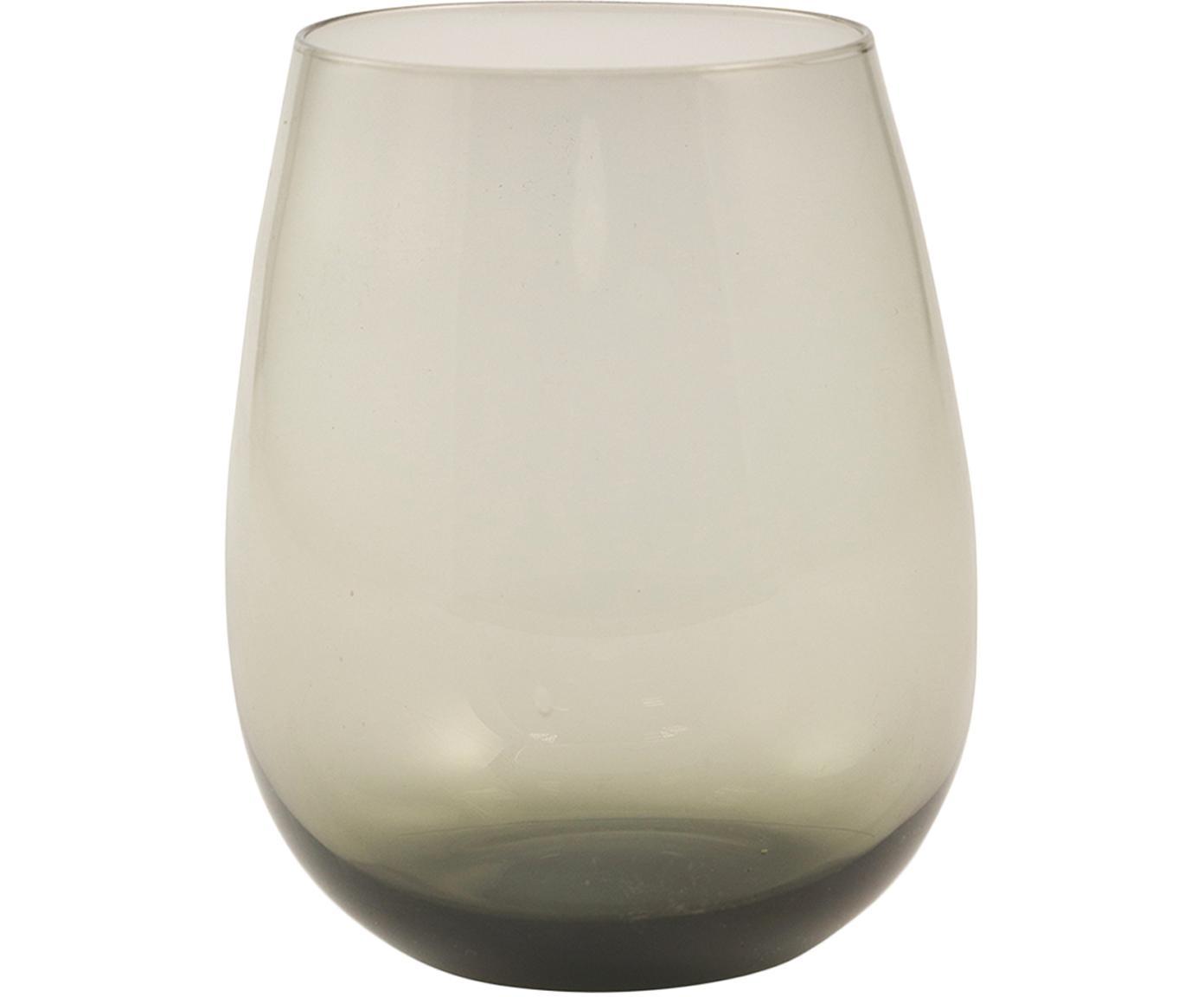 Bicchiere acqua in grigio Happy Hour 6 pz, Vetro, Grigio, Ø 6 x Alt. 11 cm