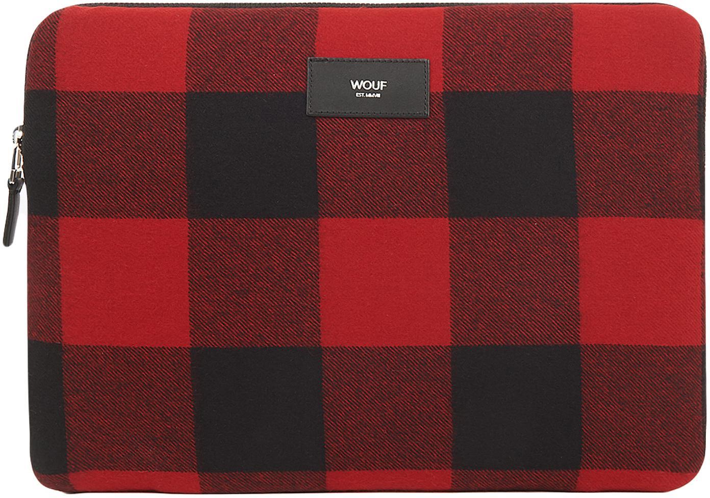 Funda MacBook Pro 13'' Red Jack, Algodón, cuero, Rojo, negro, An 33 x Al 23 cm