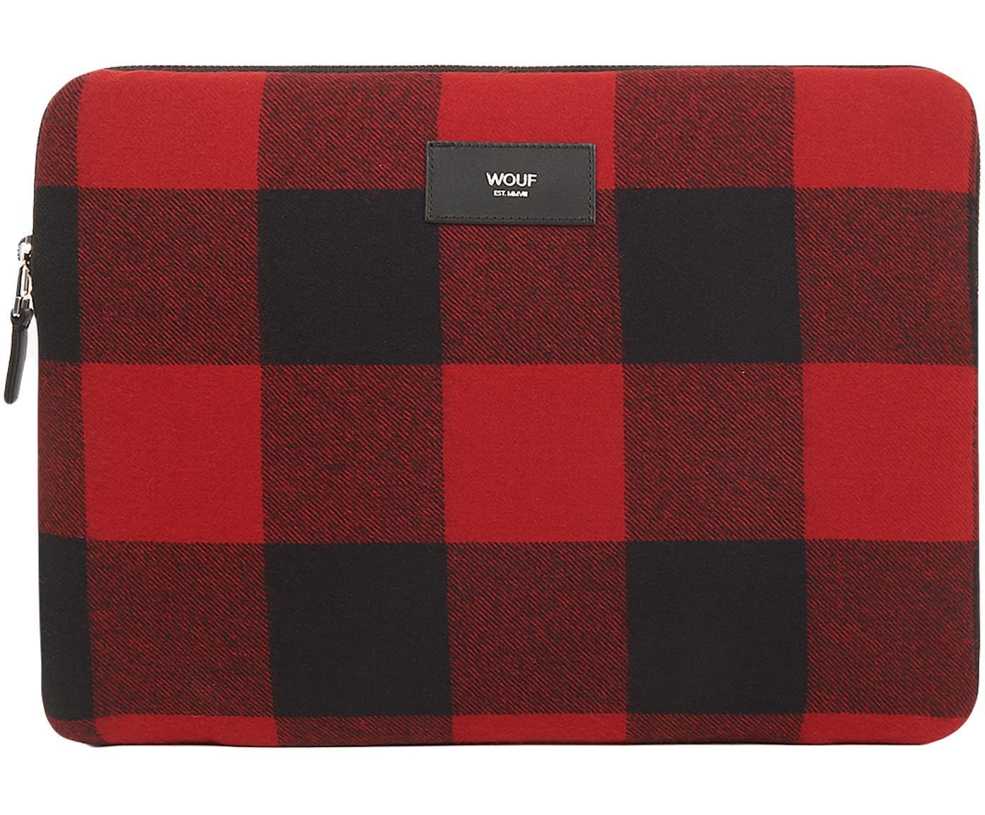Pokrowiec na MacBook Pro 13 cali Red Jack, Bawełna, skóra, Czerwony, czarny, S 33 x W 23 cm