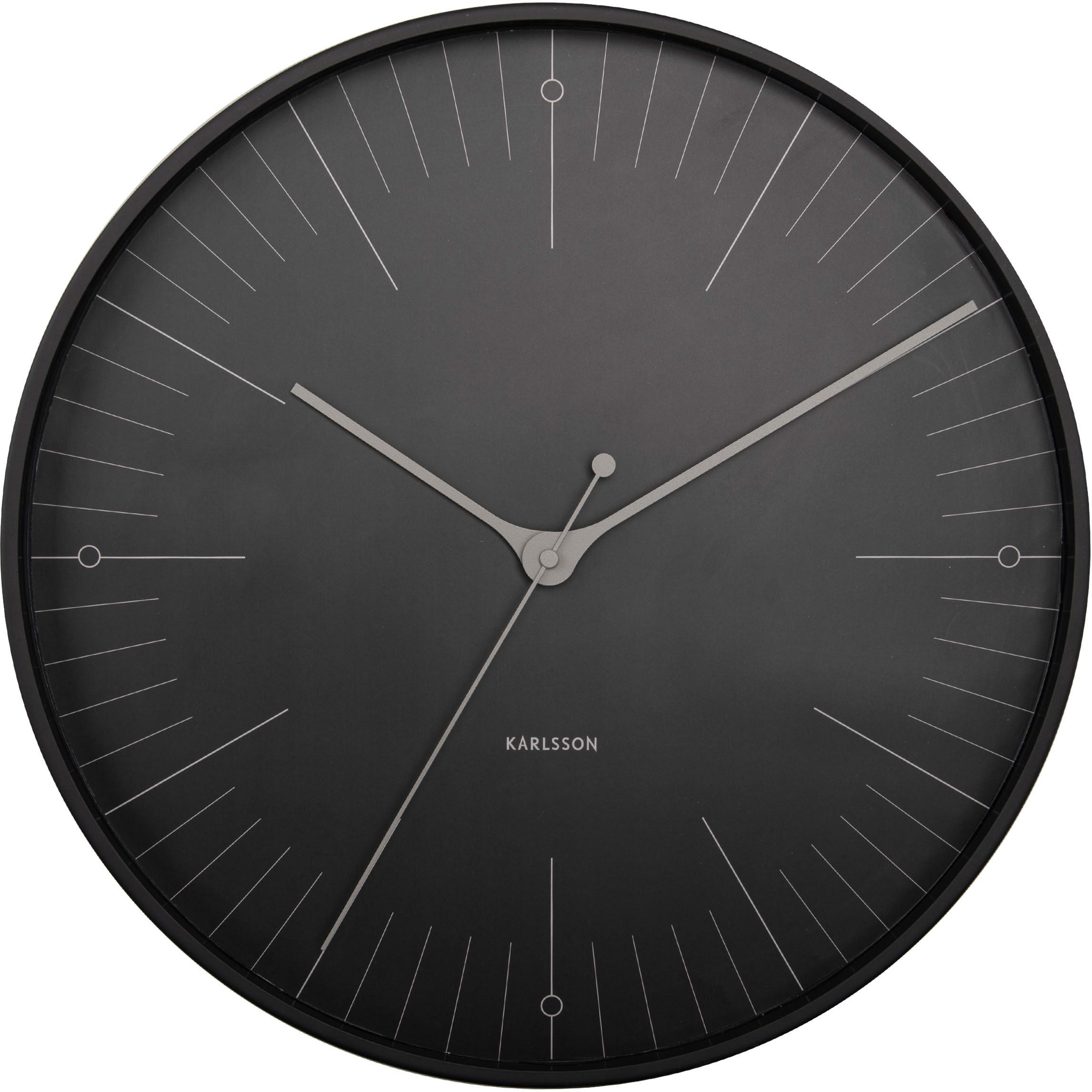 Zegar ścienny Index, Metal powlekany, Czarny, szary, Ø 40 cm