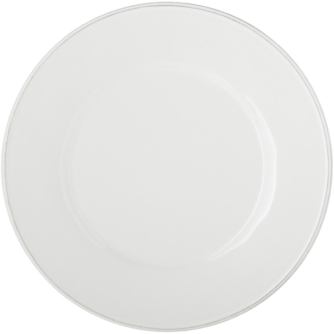 Talerz duży Constance, 2 szt., Kamionka, Biały, Ø 29 cm