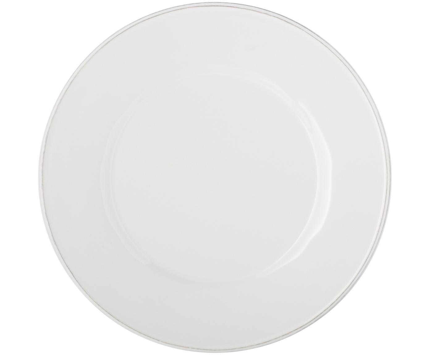 Speiseteller Constance in Weiß, 2 Stück, Steingut, Weiß, Ø 29 cm
