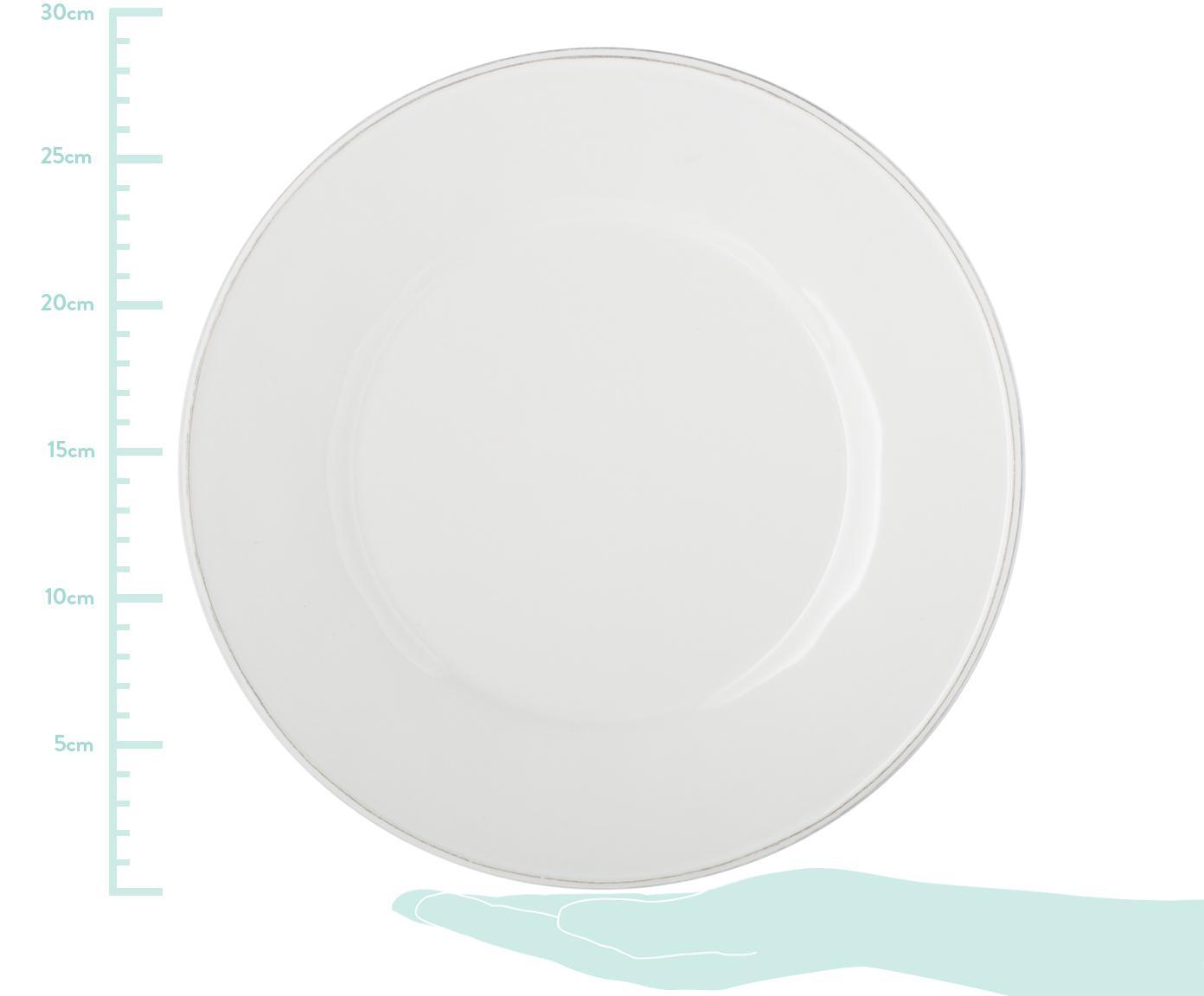 Speiseteller Constance im Landhaus Style, 2 Stück, Steingut, Weiß, Ø 29 cm