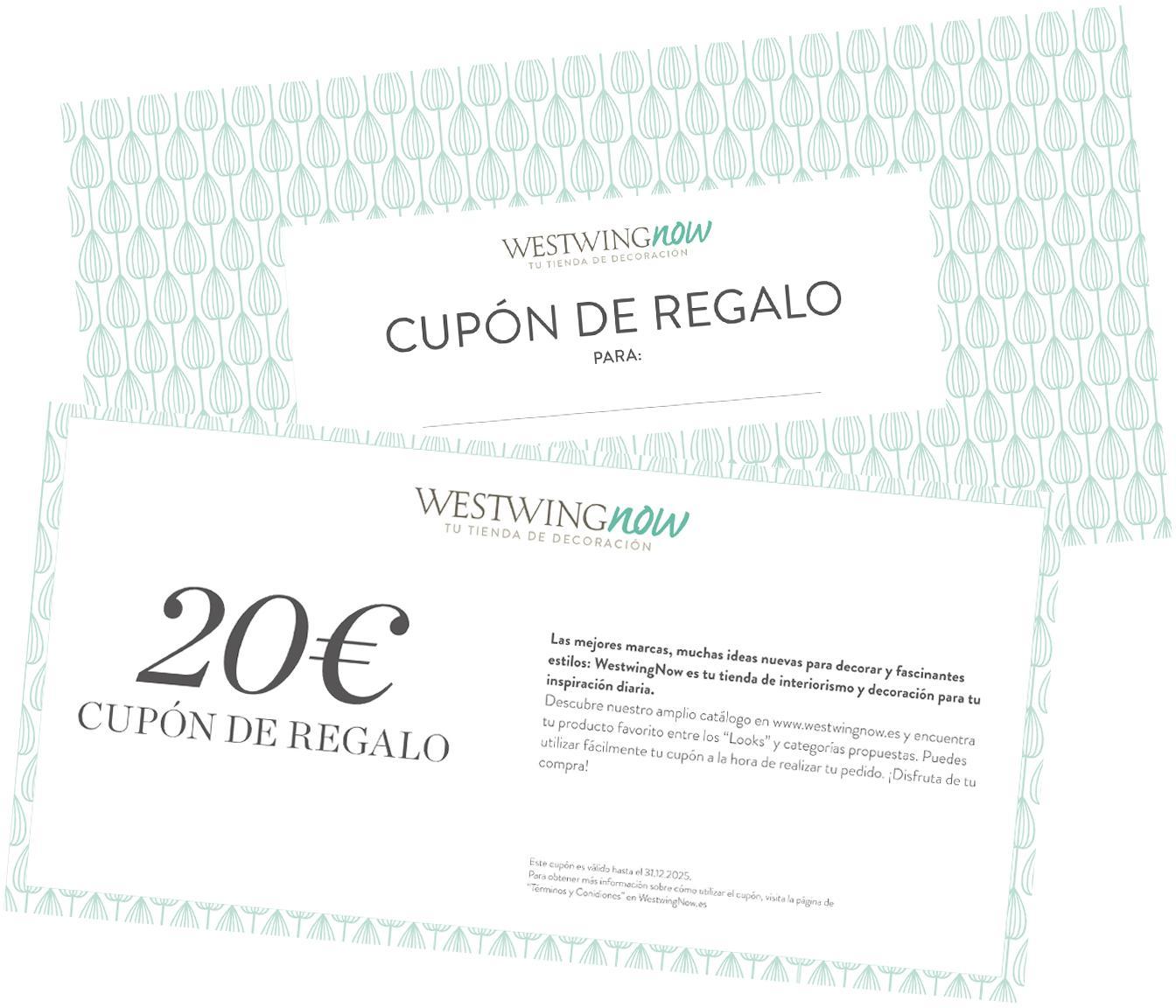 Cupón regalo, Cupón regalo impreso en papel fino dentro en un sobre de alta calidad, Blanco, 20