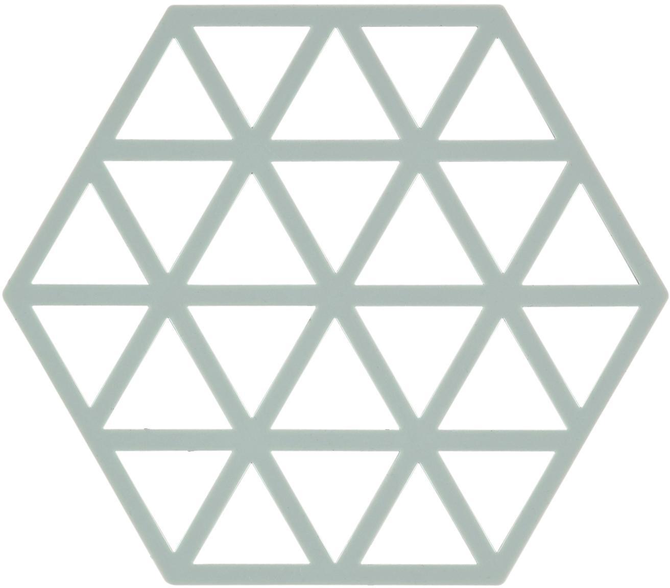 Sottopentola in silicone Triangle 2 pz, Silicone, Blu pastello, Larg. 14 x Prof. 16 cm