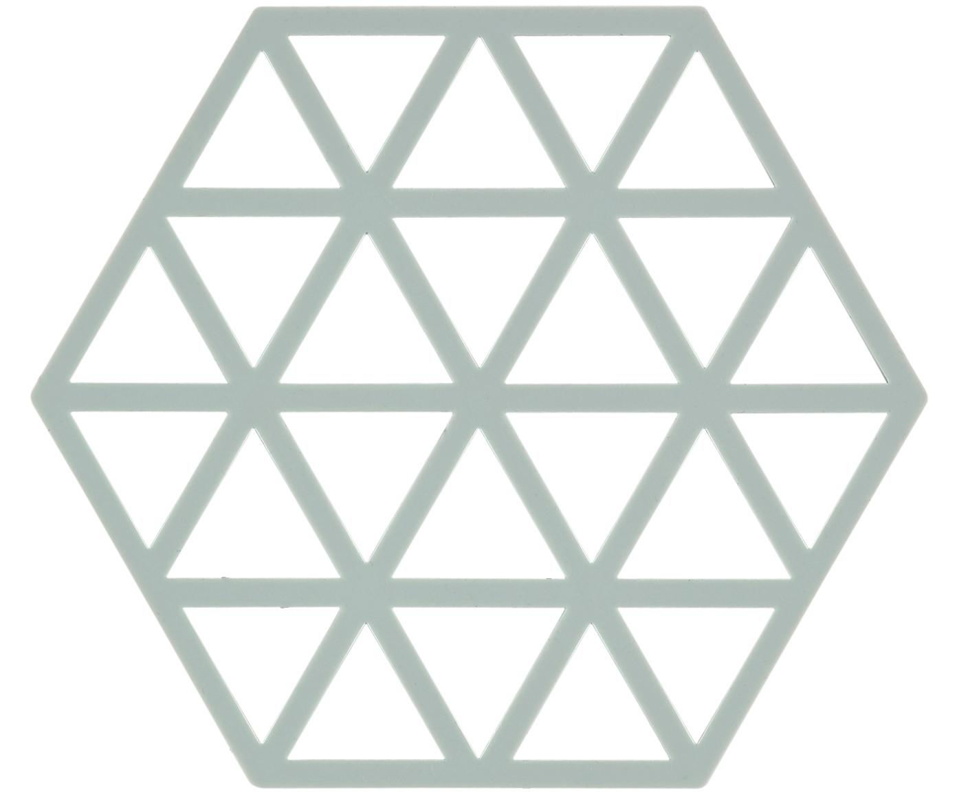 Silikon Topfuntersetzer Triangle, 2 Stück, Silikon, Pastellblau, B 14 x T 16 cm