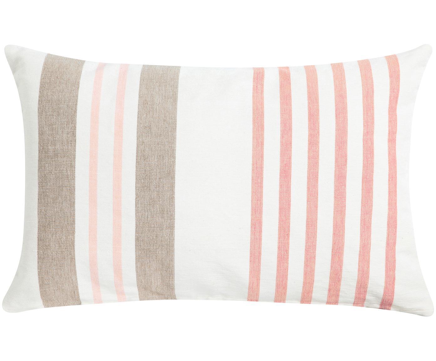 Cuscino con imbottitura Beach House, Rivestimento: cotone, Bianco, marrone, rosa, Larg. 40 x Lung. 60 cm