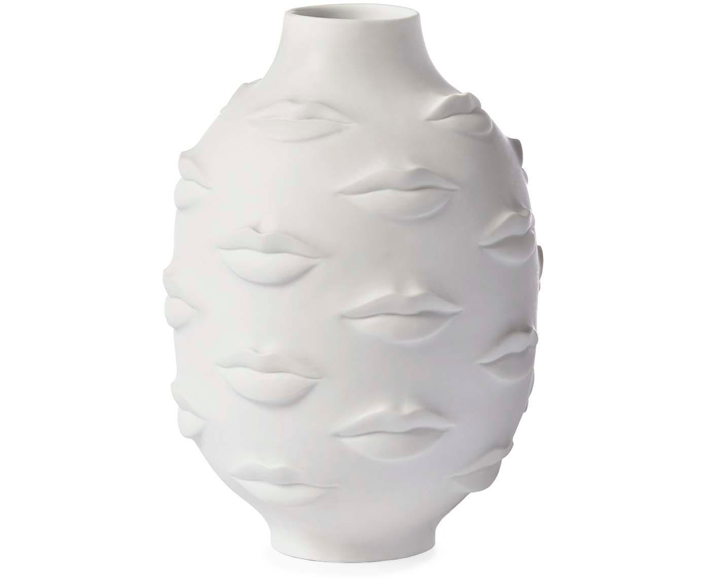 Design vaas Gala van porselein, Porselein, Wit, Ø 15 x H 25 cm