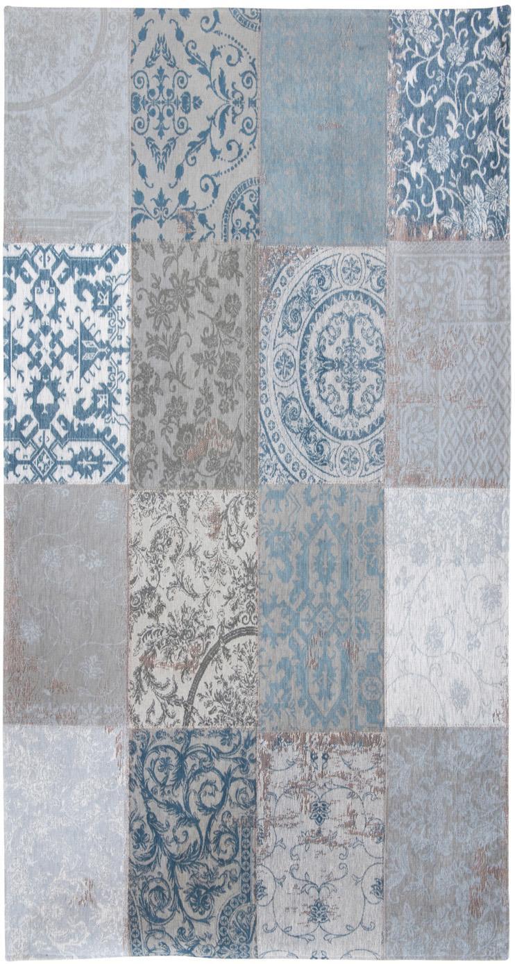 Dywan szenilowy Multi, Niebieski, szary, S 80 x D 150 cm (Rozmiar XS)