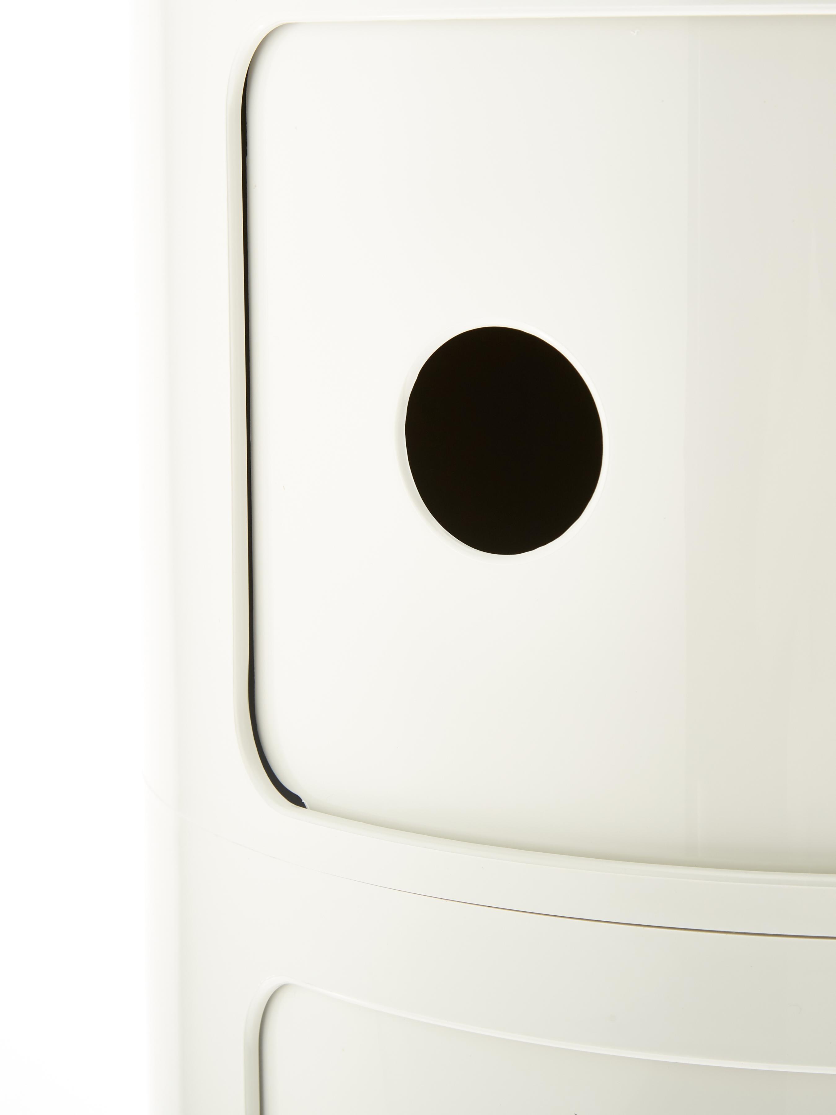 Design Container Componibile, Kunststoff, Weiß, Ø 32 x H 77 cm