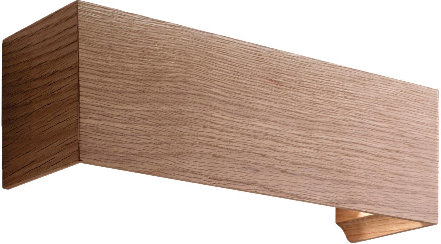 Applique Badia, Legno di quercia, Larg. 38 x Alt. 12 cm