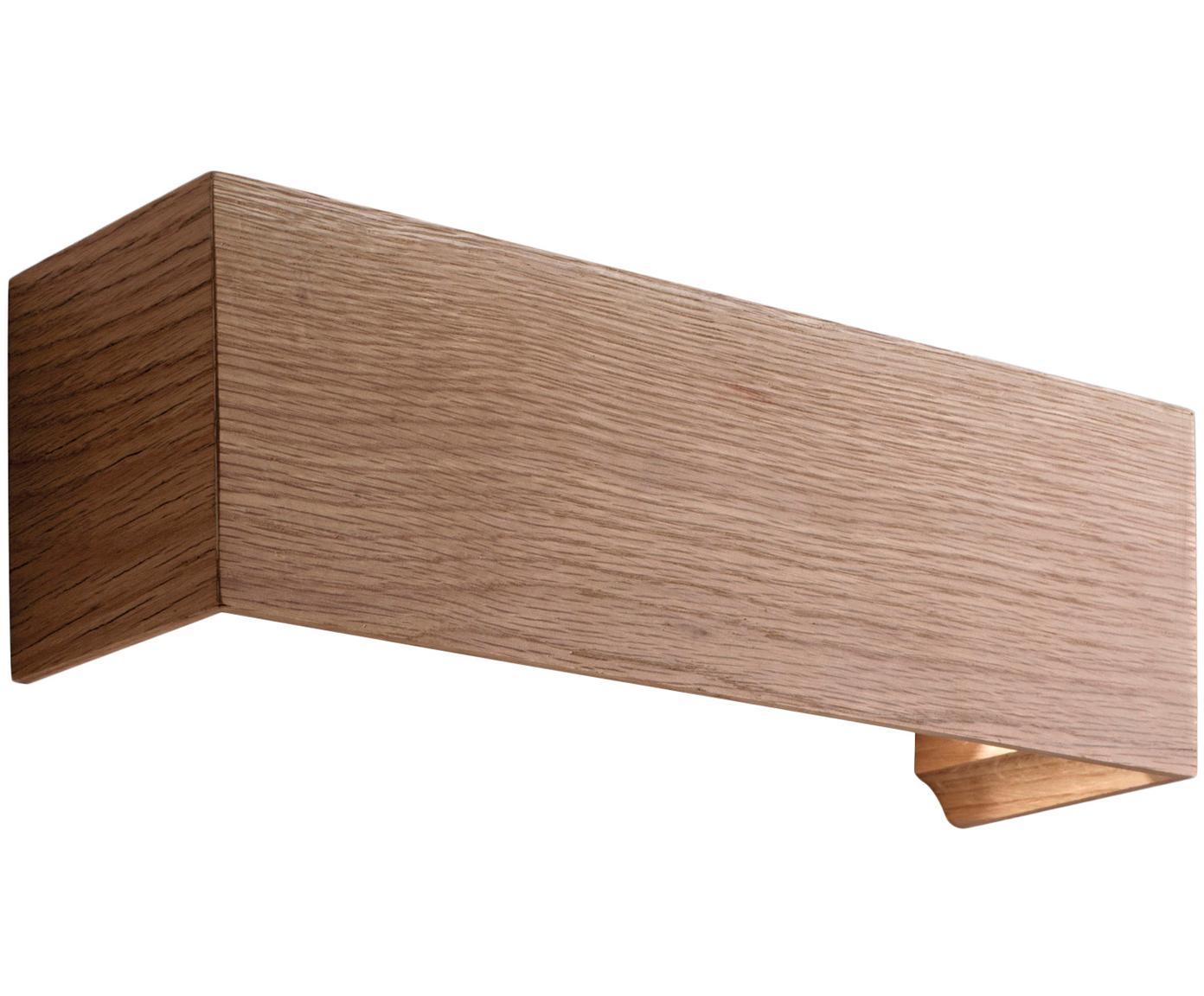Wandlamp Badia, Eikenhoutkleurig, 38 x 12 cm