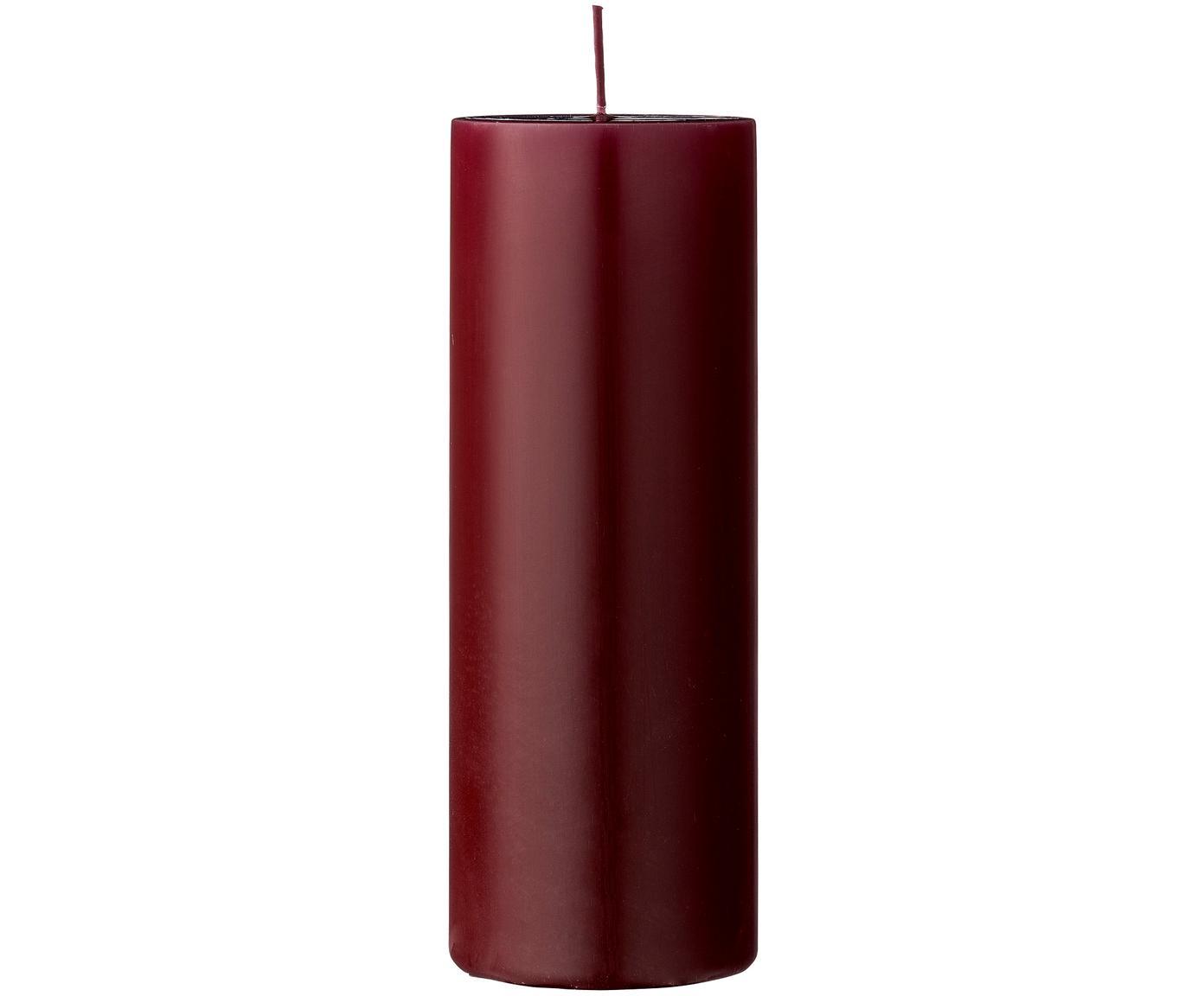 Stumpenkerze Lulu, Wachs, Rot, Ø 7 x H 20 cm