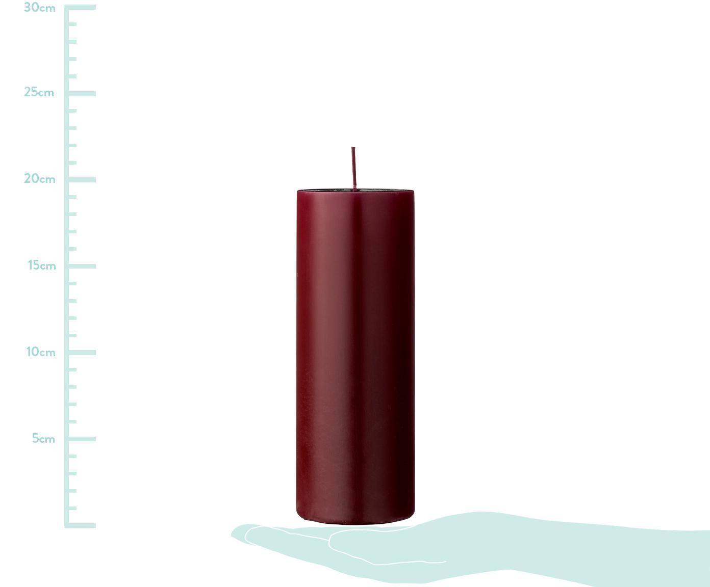 Vela pilar Lulu, Cera, Rojo, Ø 7 x Al 20 cm
