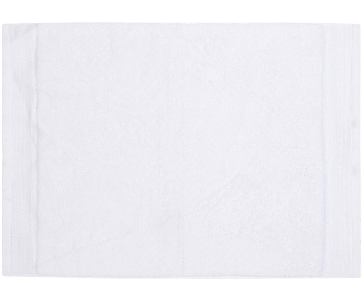 Alfombrilla de baño Premium, antideslizante, 100%algodón Gramaje superior 600g/m², Blanco, An 50 x L 70 cm