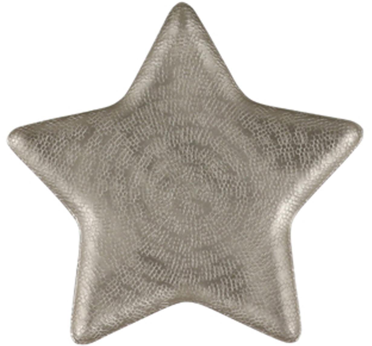 Decoratieve schaal Star, Aluminium, Mat aluminiumkleurig, 25 x 2 cm