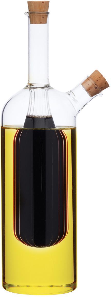 Aceitera y vinegrera Ital, Vidrio, Transparente, Ø 6 x Al 24 cm