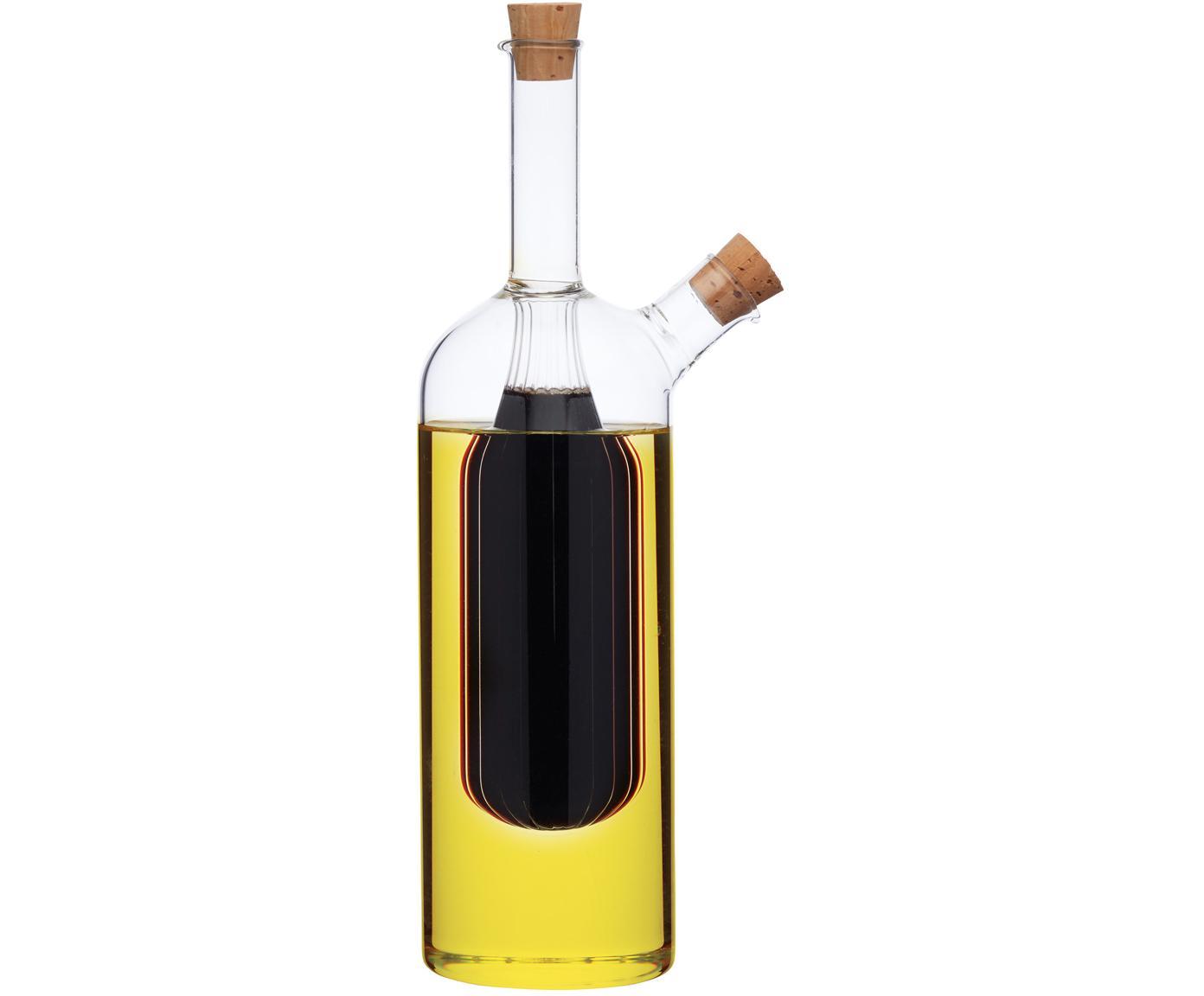 Set olio e aceto Ital, Vetro, Trasparente, Ø 6 x Alt. 24 cm