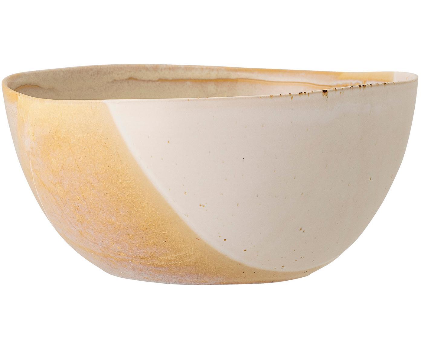 Ręcznie wykonana miska April, Kamionka, Odcienie beżowego, Ø 26 x W 12 cm