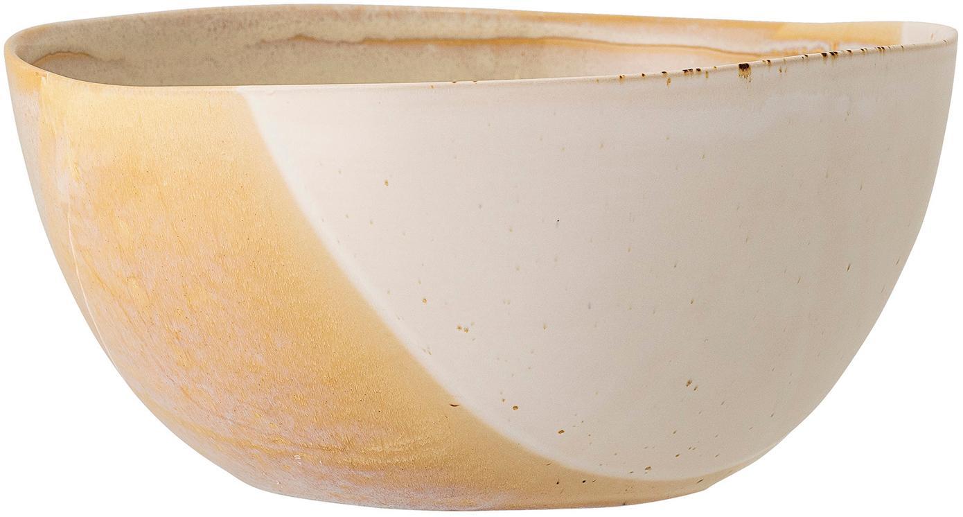 Ciotola fatta a mano April, Gres, Tonalità beige, Ø 26 x Alt. 12 cm