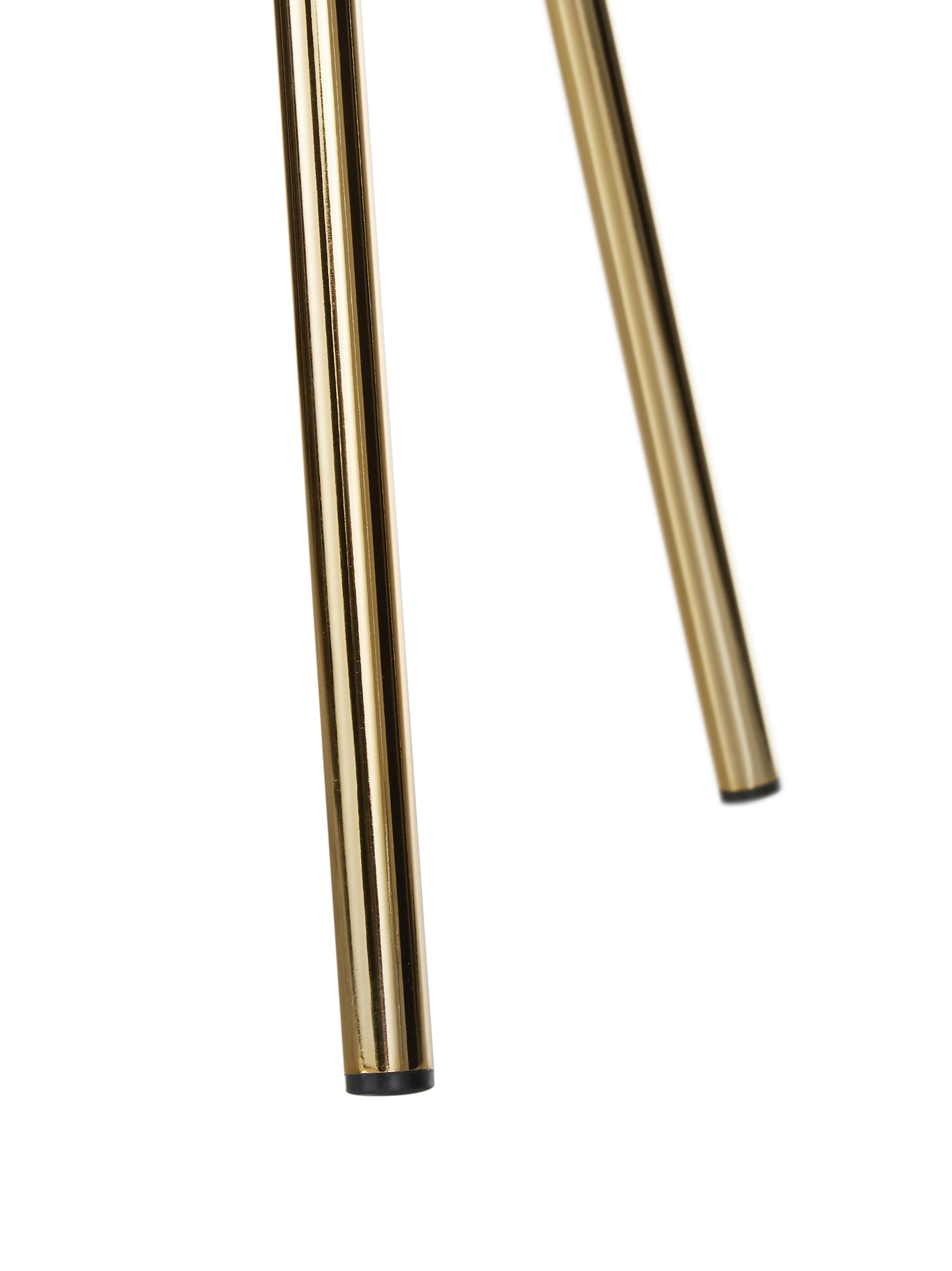 Cocktailsessel Kylie, Bezug: Polyester 20.000 Scheuert, Gestell: Metall, Sperrholz, Füße: Metall, beschichtet, Webstoff Altrosa, B 77 x T 72 cm