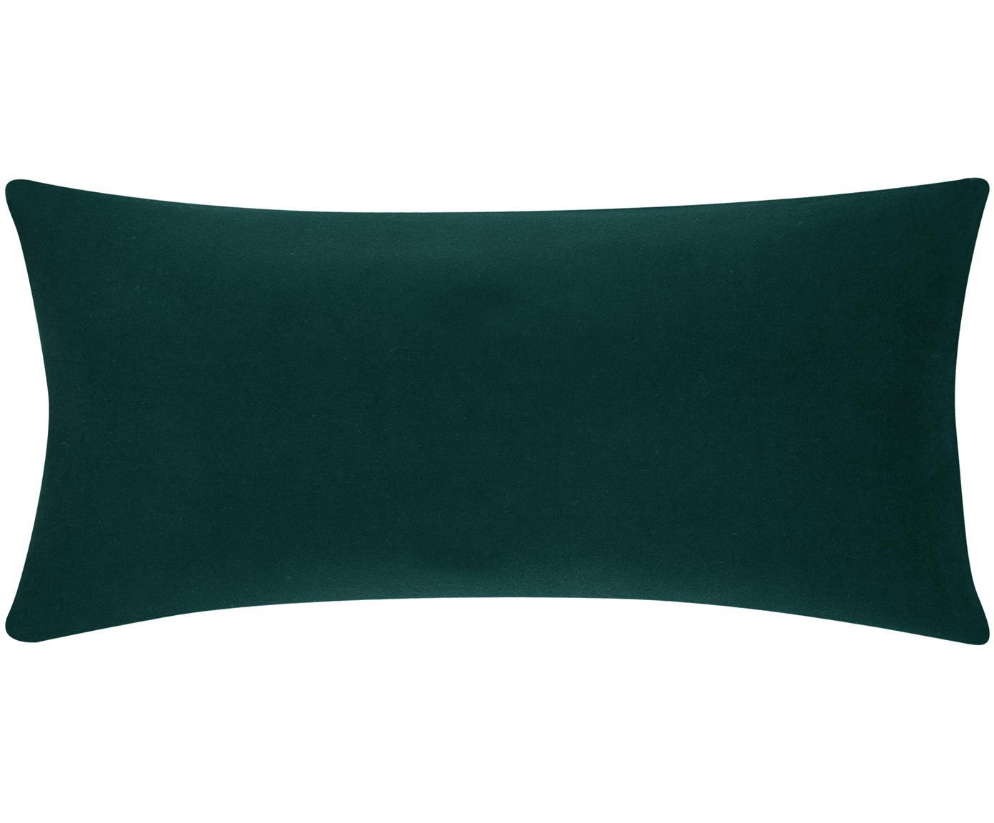 Flanell-Kissenbezüge Biba in Waldgrün, 2 Stück, Webart: Flanell Flanell ist ein s, Waldgrün, 40 x 80 cm