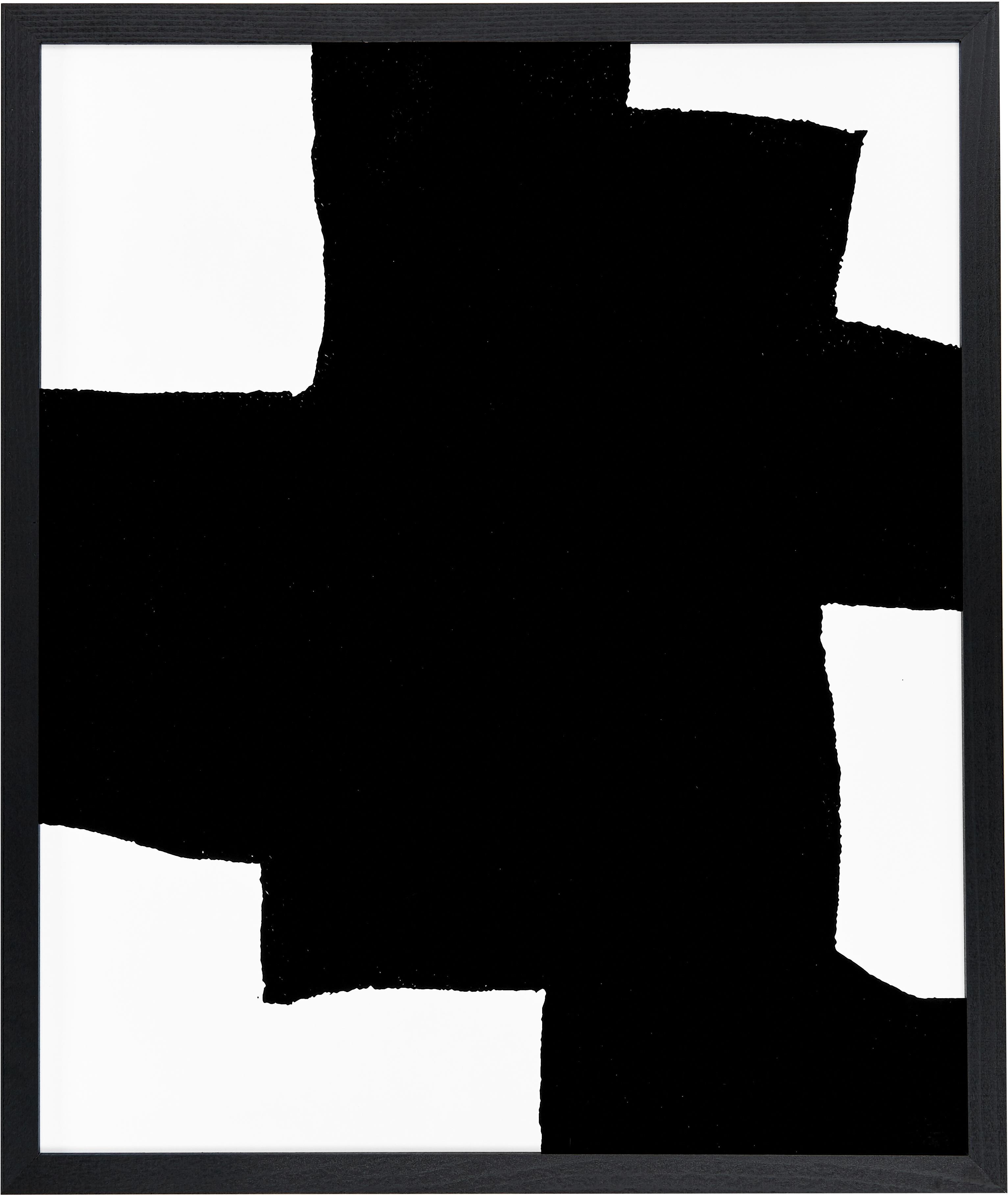 Ingelijste digitale print From Above, Afbeelding: digitale print op papier,, Lijst: gelakt beukenhout, Zwart, wit, 53 x 63 cm