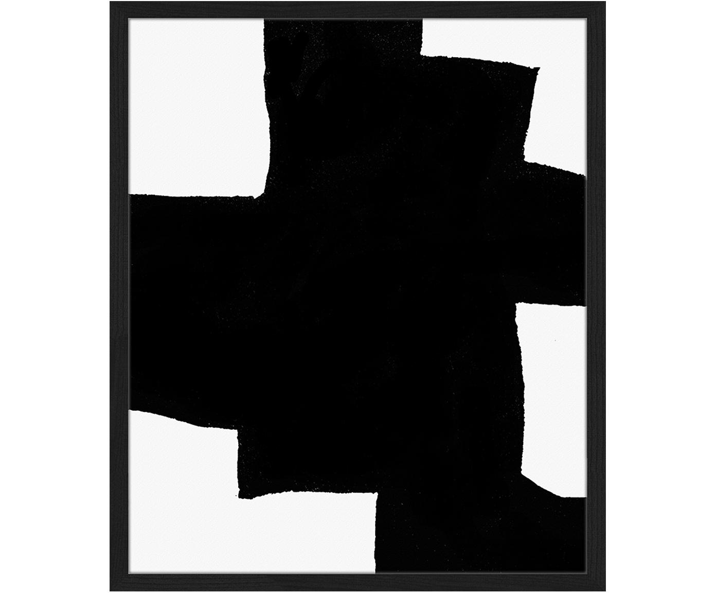 Impresión digital enmarcada From Above, Negro, blanco, An 53 x Al 63 cm