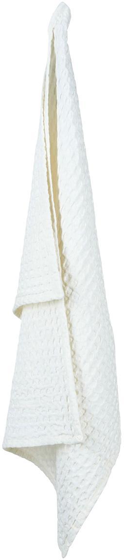 Canovaccio a nido d'ape Wanda 2 pz, Cotone organico, Bianco, Larg. 50 x Lung. 70 cm