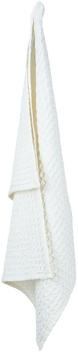 Paños de cocina con estructura gofre Wanda, 2 uds., Algodón orgánico, Blanco, An 50 x L 70 cm