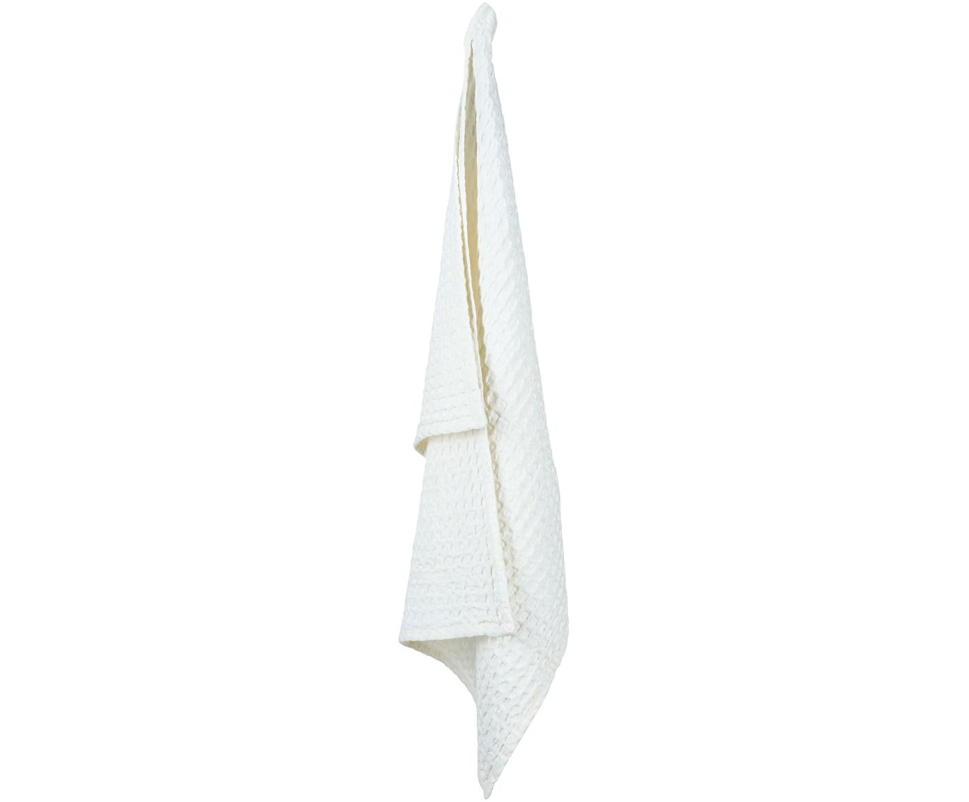 Ręcznik kuchenny z piki Wanda, 2 szt., Bawełna organiczna, Biały, S 50 x D 70 cm