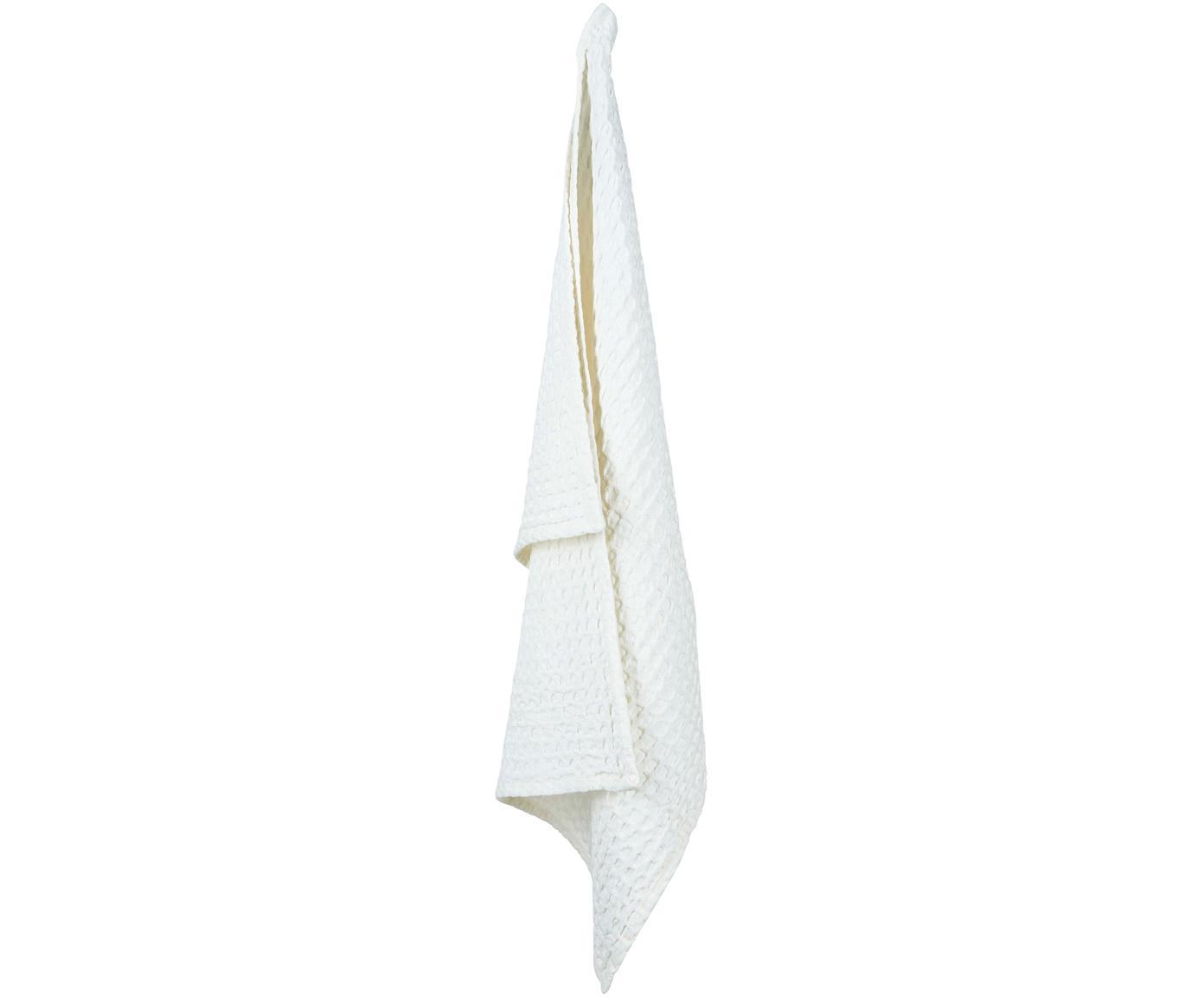 Waffelpiqué-Geschirrtücher Wanda, 2 Stück, Organische Baumwolle, Weiß, 50 x 70 cm