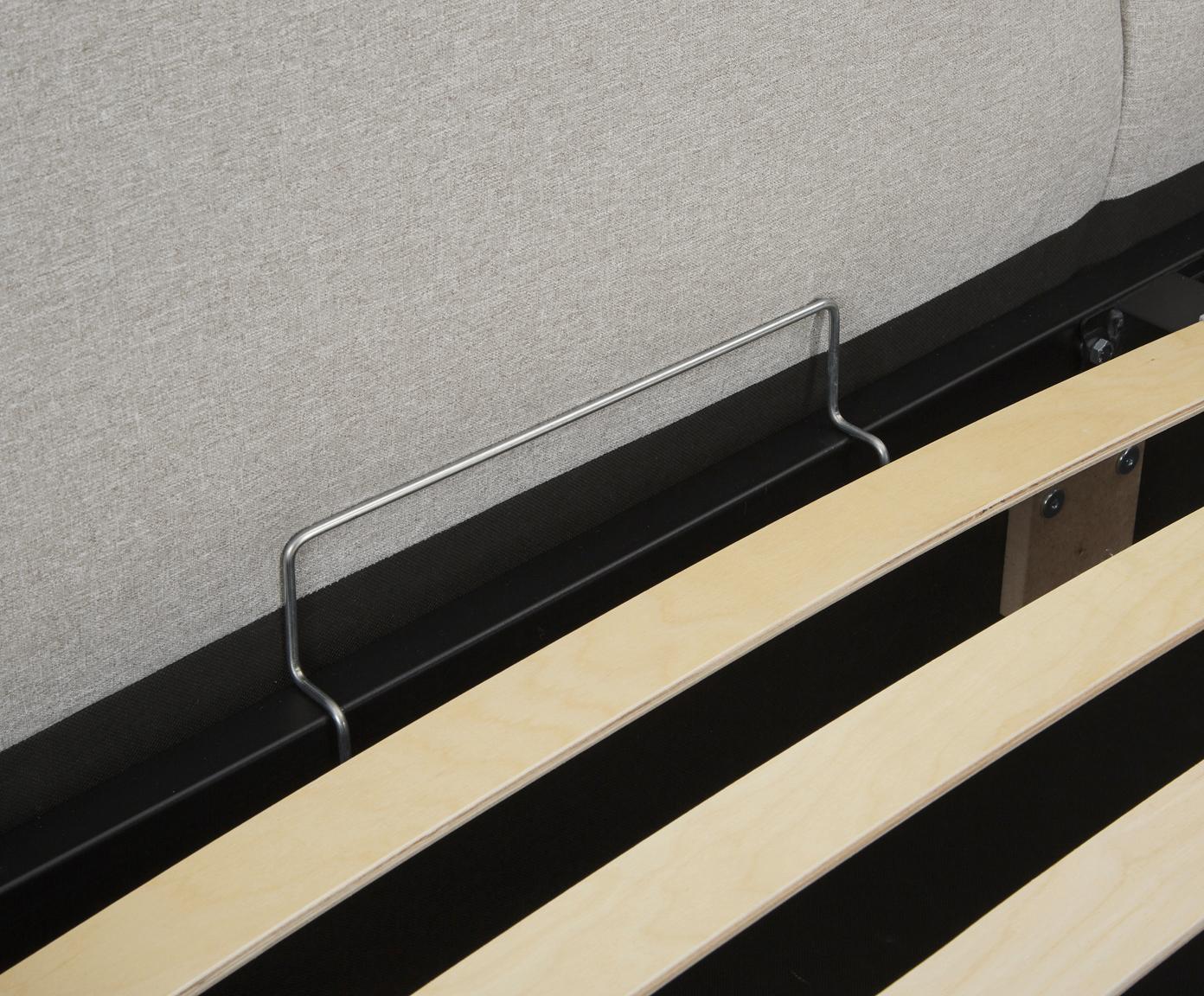 Łóżko tapicerowane ze schowkiem Dream, Korpus: lite drewno sosnowe, Tapicerka: poliester (materiał tekst, Fioletowy, 180 x 200 cm