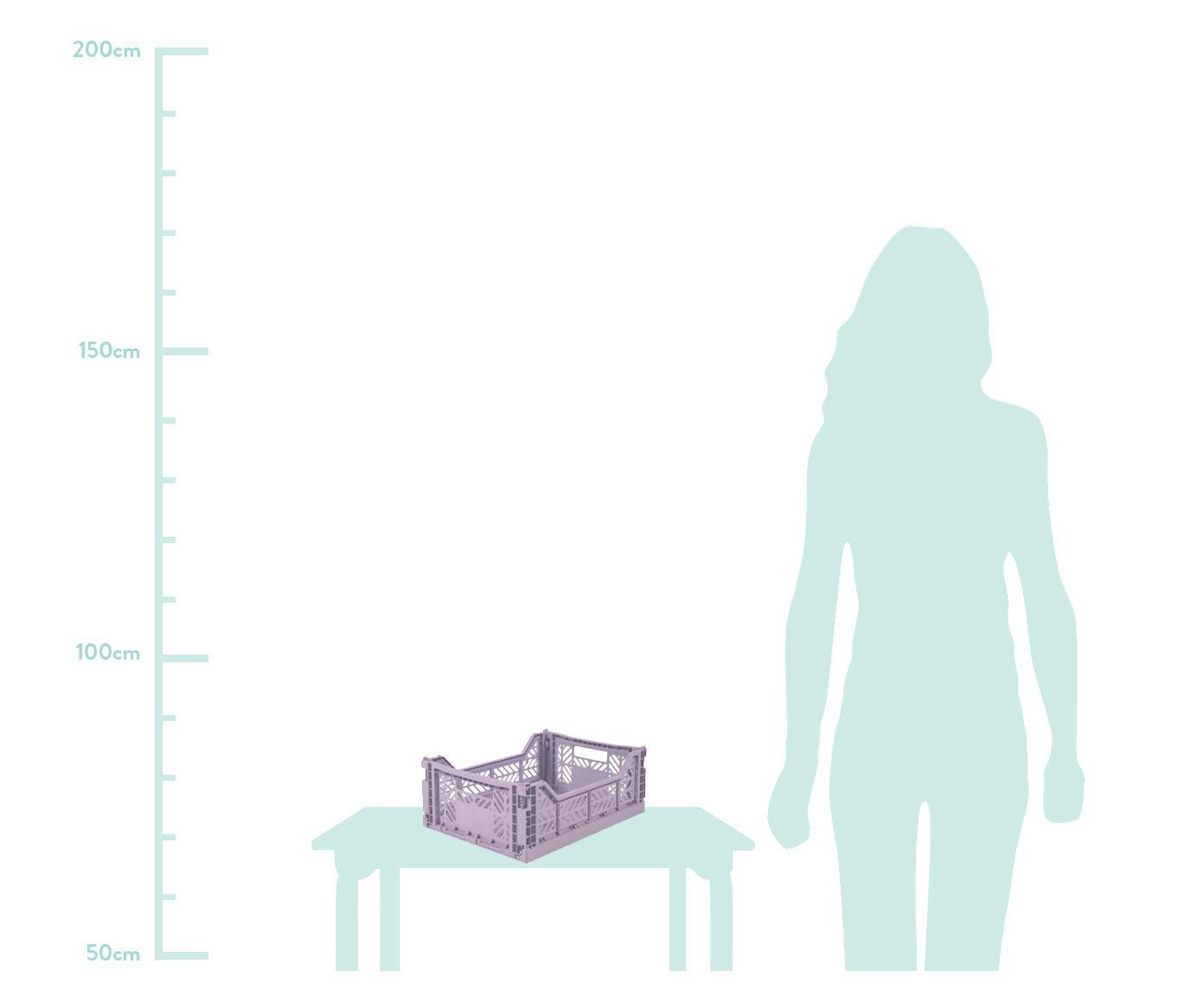 Cesto medio pieghevole e impilabile Orchid, Materiale sintetico riciclato, Lilla, Larg. 40 x Alt. 14 cm