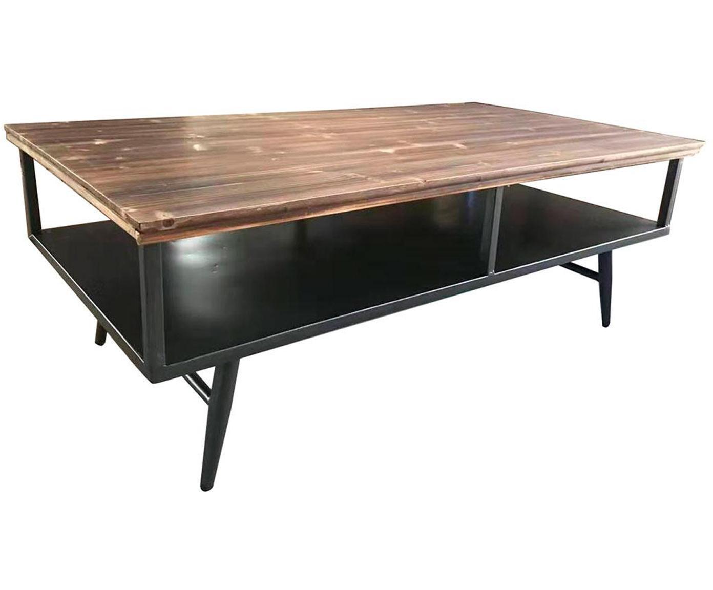 Mesa de centro Aina, Tablero: madera, Marrón, negro, An 125 x F 66 cm