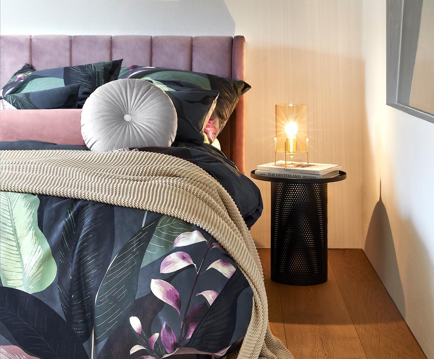 Poduszka wałek z połyskliwego aksamitu z wypełnieniem Monet, Tapicerka: 100% aksamit poliestrowy, Brudny różowy, Ø 18 x D 50 cm