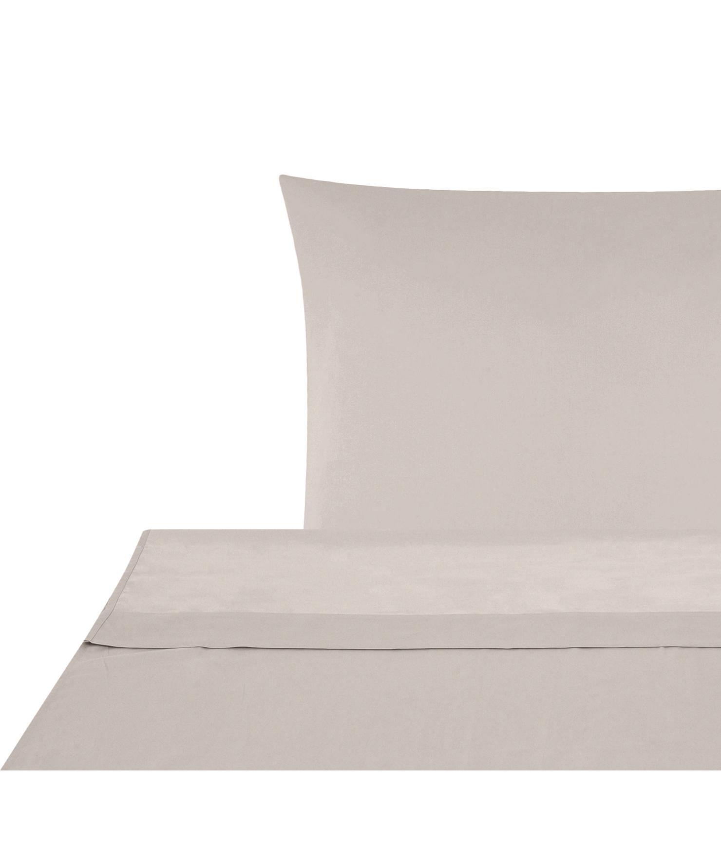 Sábana encimera de satén Comfort, Gris pardo, Cama 150/160 cm (240 x 270 cm)