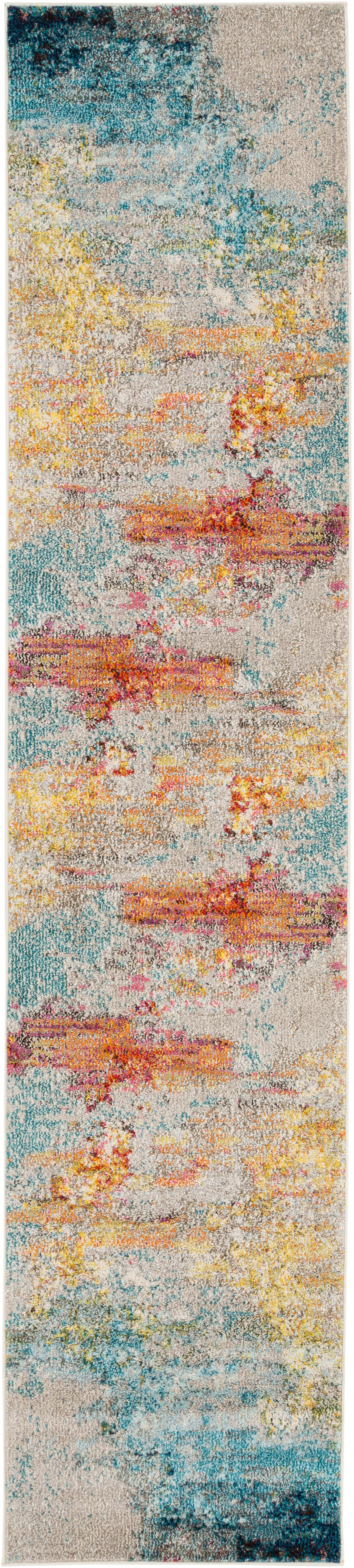 Passatoia a fantasia in polipropilene Celestial, Retro: juta, Multicolore, Larg. 70 x Lung. 305 cm