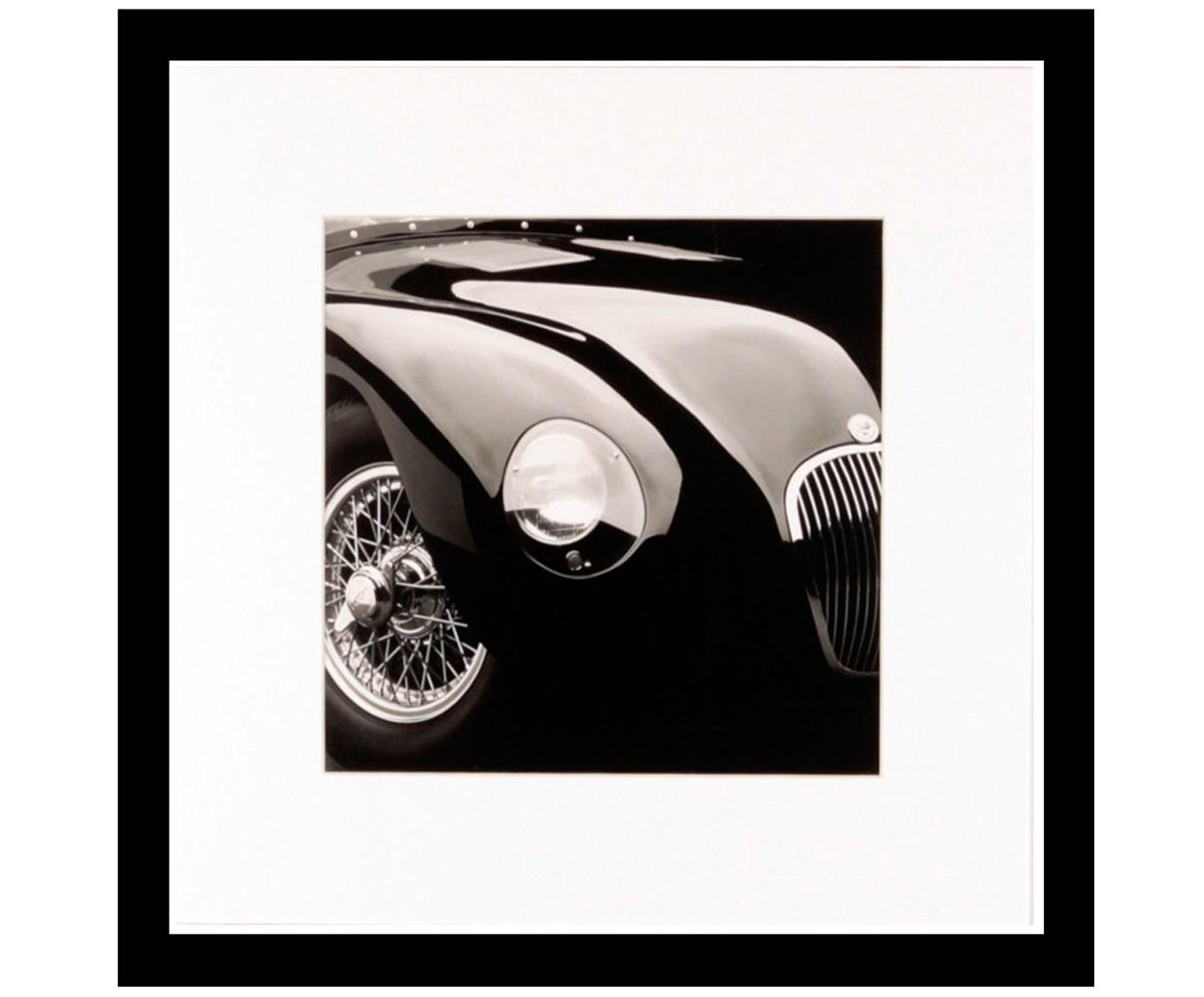 Gerahmter Digitaldruck Oldtimer II, Bild: Digitaldruck, Rahmen: Kunststoff, Front: Glas, Bild: Schwarz, Weiss<br>Rahmen: Schwarz, 30 x 30 cm