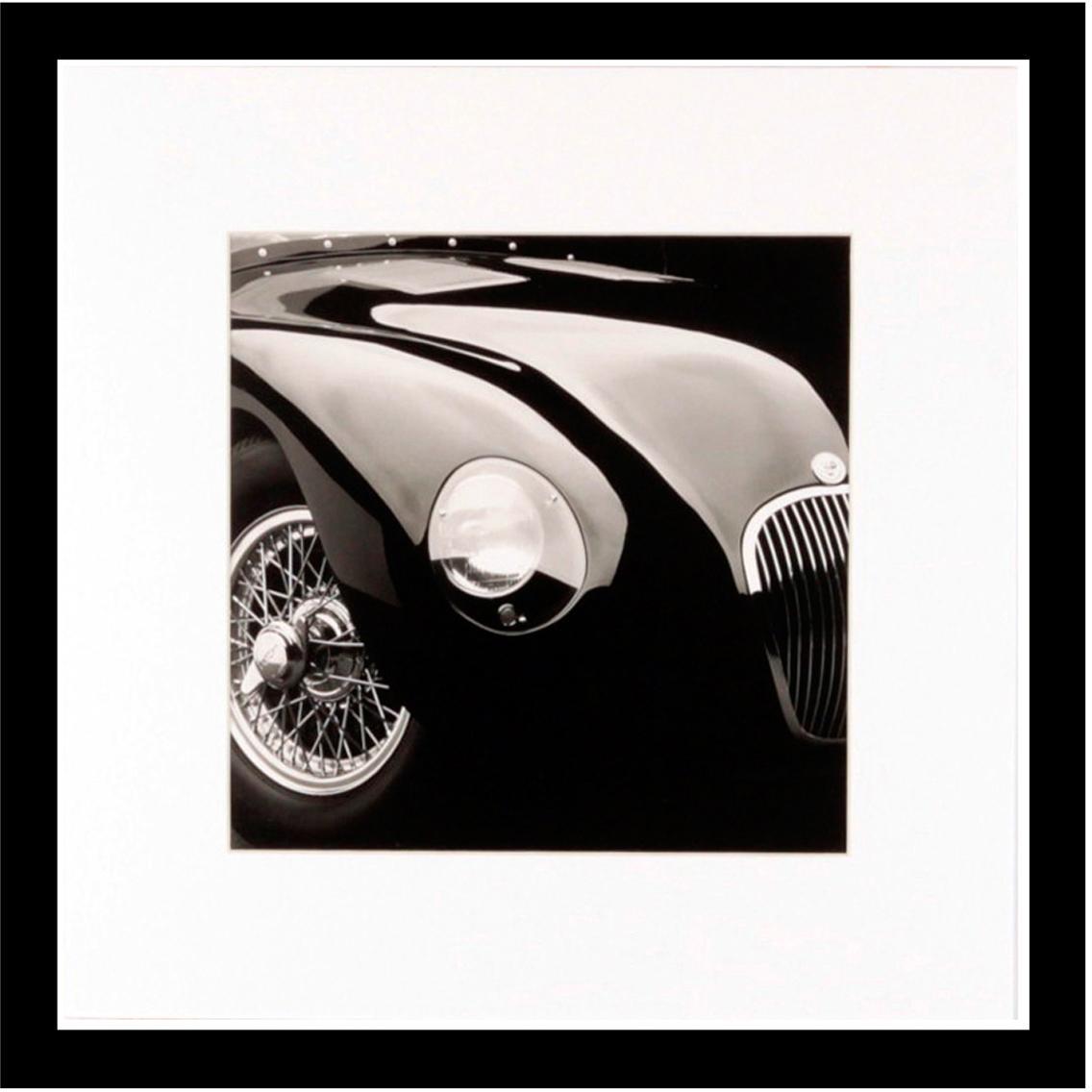 Gerahmter Digitaldruck Oldtimer II, Bild: Digitaldruck, Rahmen: Kunststoff, Front: Glas, Bild: Schwarz, Weiß<br>Rahmen: Schwarz, 30 x 30 cm