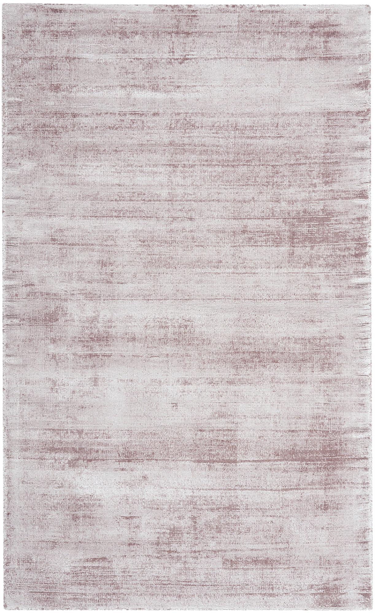 Ręcznie tkany dywan z wiskozy Jane, Liliowy, S 90 x D 150 cm (Rozmiar XS)