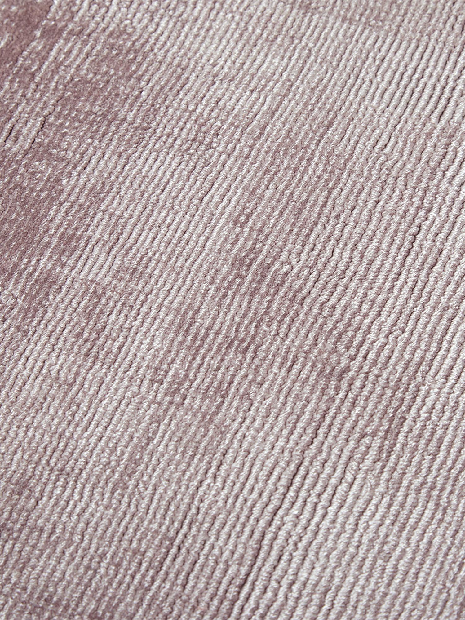 Handgewebter Viskoseteppich Jane in Flieder, Flor: 100% Viskose, Flieder, B 200 x L 300 cm (Grösse L)